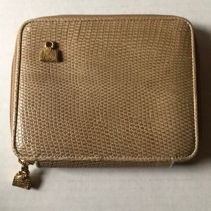 Judith Leiber Pebbled Leather Women's Wallet